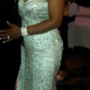 Dresses & Skirts - White and gold wedding party dress or prom dress